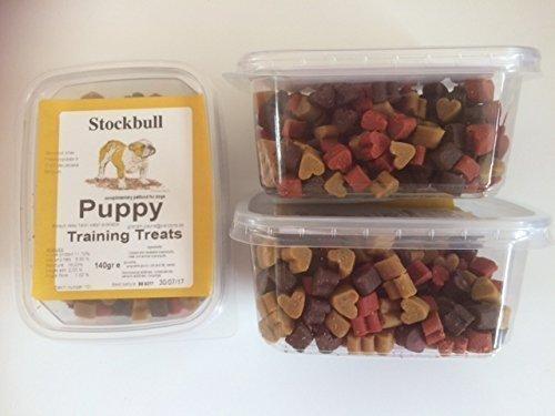 Stockbull Puppy Training Treats – (3 x 140g tubs)