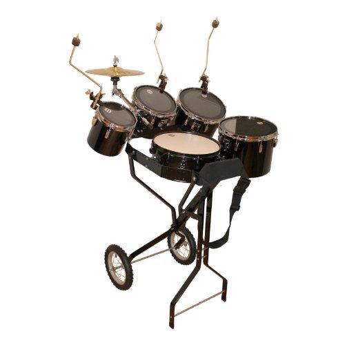 Schlagzeugwagen mit Snare, 4 Toms, 1 Hi-Hat, 3 Beckenhalter