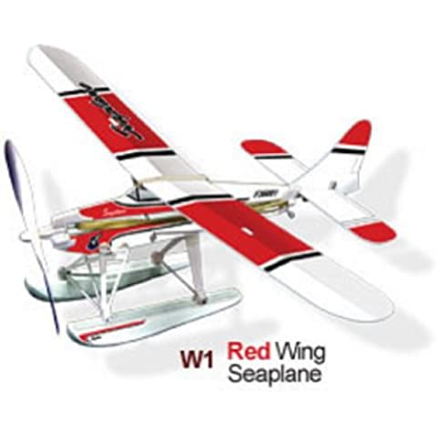 Red Wing Hidroavión Rubber Band Kit Plane Powered - Lyonaeec 36001 Flying Modelo