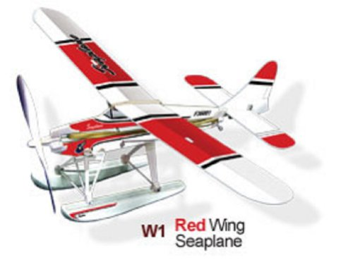 Red Wing Seaplane Rubber Band Powered Flugzeug Kit - Lyonaeec 36.001 Fliegen Modell -