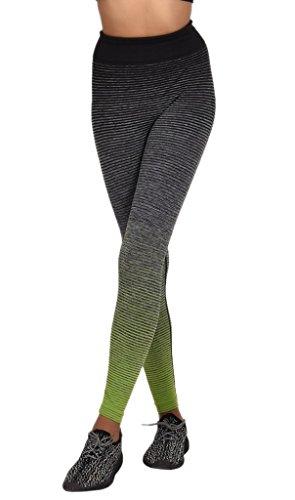 Smile YKK Pantalon Yoga Running Sport Femme Legging Slim Elastique Casual Plage Jogging Gris