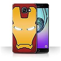 Coque de Stuff4 / Coque pour Samsung Galaxy A5 (2016) / Robot Rouge/Or Design / Casque Super Héro Collection
