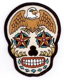 sunny-buick-stars-diamonds-eagle-sugar-skull-25-x-35-ricamato-toppa-embroidered-patch