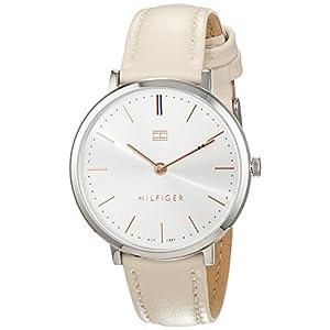 Tommy Hilfiger Damen Analog Quarz Uhr mit Leder Armband 1781691