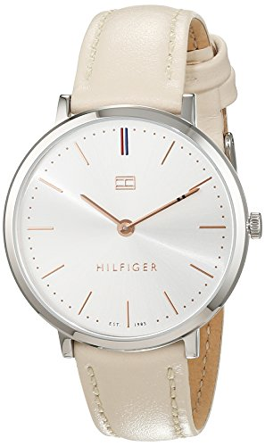 Tommy Hilfiger Womens Quartz Watch, Analogue Classic Display and Leather Strap 1781691