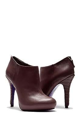 Miezko High Heel Booties Aubergine - Violet - aubergine,