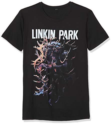 MERCHCODE Linkin Park Heart tee Camiseta, Hombre, Negro, Small