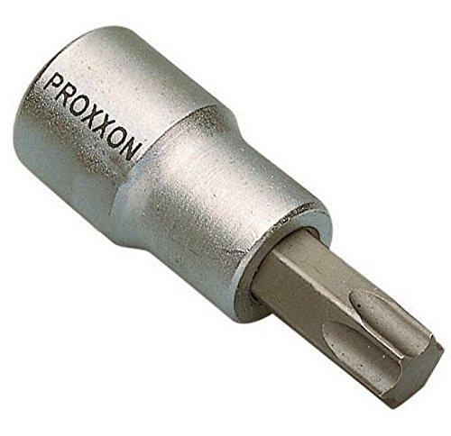 PROXXON 23589 TX45 Torx Einsatz / Nuss Antrieb 10mm (3/8') ohne Bohrung - T45 Torx