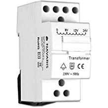 Navaris transformador de timbre - Transformador 220V 240V a 8V 12V 24V - Instalación de interruptor