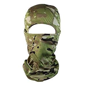 Demarkt 1 Stück Multifunktionstuch Volltonfarbe Gesichtsmaske Motorradmaske Sturmmaske Maske für Motorrad Snowboard Trekking Skateboarden Angeln