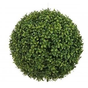 One 20 Inch Artificial Boxwood Ball Topiary Plant by Silk Tree Warehouse - Ball Topiary Silk