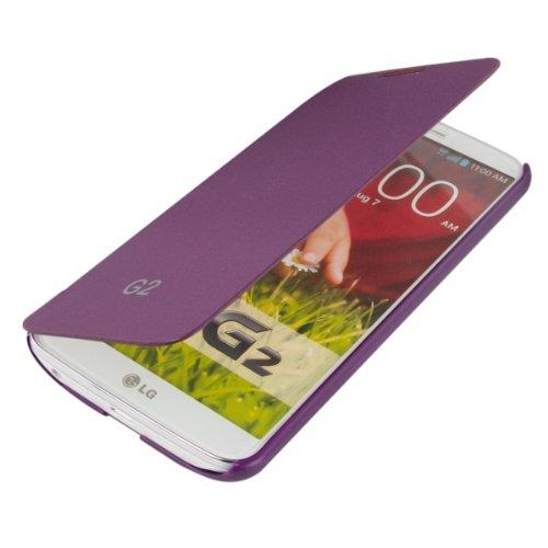 Funda potectora práctica y chic FLIP COVER para LG G2 en Violeta de kwmobile