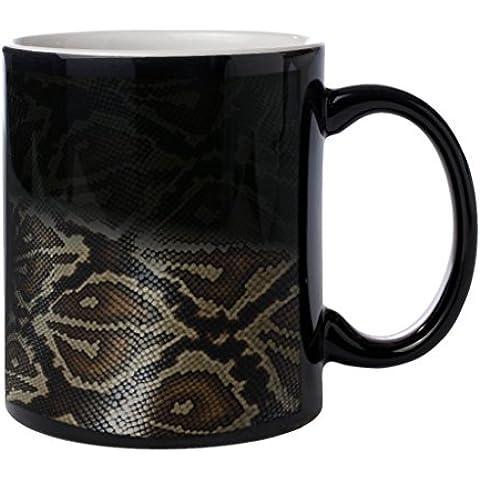 Snake Skin Pattern - Black Color Morph Coffee Cup Mug by Sunshine Cases - Snake Porcellana