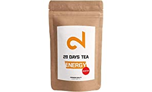 DUAL Energy - 28 Days Booster Tea |100% Natural| 125g Loose Leaf Tea | Refreshing & Spicy Herbal Tea| Without Additives & Sugar |Natural Caffeine| Black Tea & Guarana |Vegan|Lab Certified|Made in DE