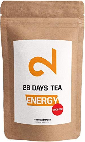 DUAL Energy - 28 Days Booster Tea   100% natürlich   125g loser Tee   Würziges Aroma   Ohne Zusatzstoffe   Schwarzer Tee & Guarana   Vegan   Lab-zertifiziert   EU