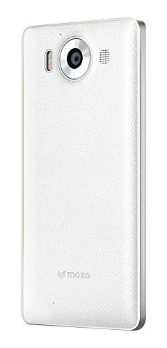 Mozo 950BWSWN Coque chargeur NFC pour Microsoft Lumia 950 Blanc/Argent