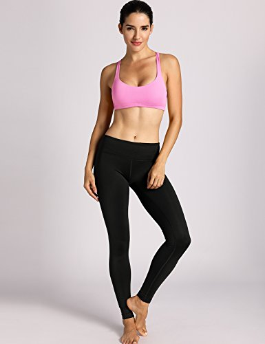 CRZ YOGA Damen Yoga Sport BH - Gekreuzte Rücken,Abnehmbare Padded Hellrosa