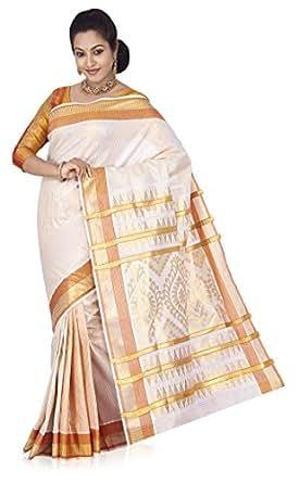 Farico Cotton Kerala Kasavu Saree (1708440266808Xqklknjorange-Cream Gold)