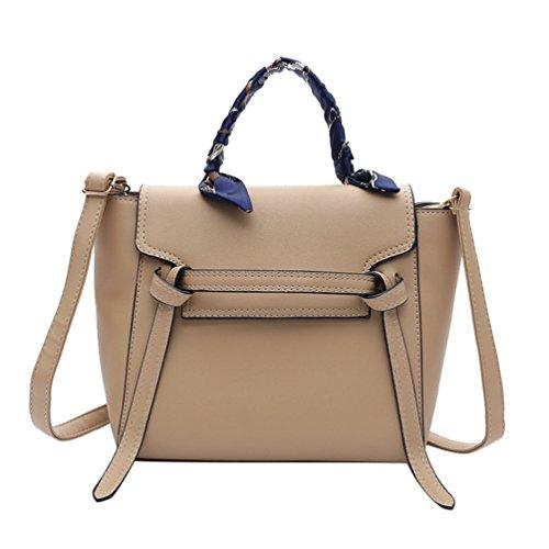 YAANCUN Damen Kelly Tasche PU Leder Henkeltasche Mode Handtasche Elegant Umhängetasche Vintage Schultertasche Mit Schals