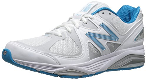 New Balance Women's W1540V2 Optimum Control Running Shoe, White/Blue, 10 4E US WB2