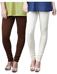 Limeberry Women's Cotton Legging Pack of 2 (LB-2PCK-LEGG-CMB-2_Multicolor)