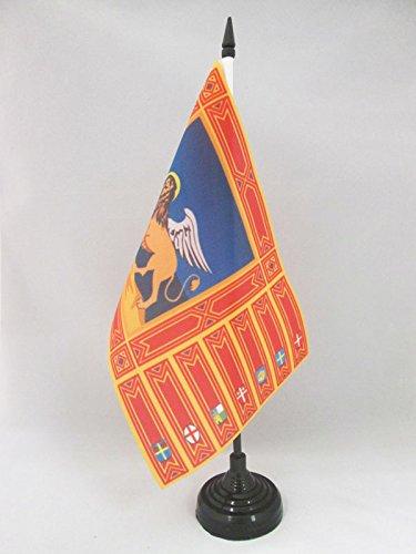 AZ FLAG TISCHFLAGGE VENETIEN 21x14cm - Veneto IN Italien TISCHFAHNE 14 x 21 cm - Flaggen