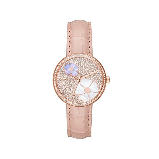 41Uu1DONUPL. SS555  - Michael Kors Damen Analog Quarz Uhr mit Leder Armband MK2718