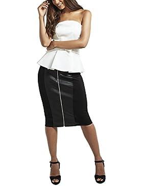 Lipsy Mujer Falda de tubo con paneles de poliuretano y cremallera Love Michelle Keegan