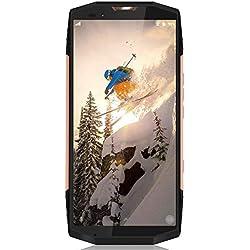 Smartphone Resistente, Blackview BV9000 IP68 Impermeable, 4180mAh Batteria 12V / 2A Carga Rápida, 5.7 '' 18: 9 HD 4GB RAM 64GB ROM, Cámara Dual 13MP + 5MP Teléfono Antigolpes, Android 7.1 (Oro)