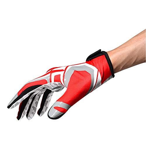 BOODUN Professionelle American Rugby Football Handschuhe 2019 Japan RWC Outdoor Sports Warm Slip Handschuhe Für Laufen Radfahren Radfahren Wandern Für Herren Und Jugendliche (S-L)