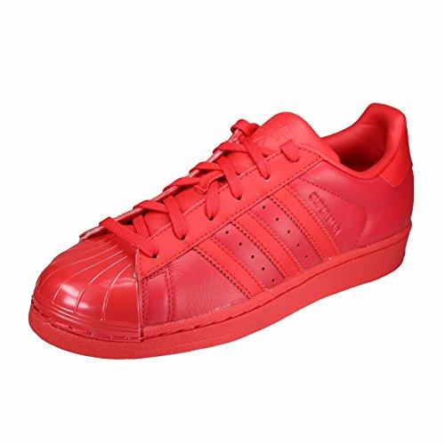 new styles db0b7 6c692 adidas Superstar Glossy Toe, Zapatos de Baloncesto para Mujer, Rojo Rayred  Cblack,