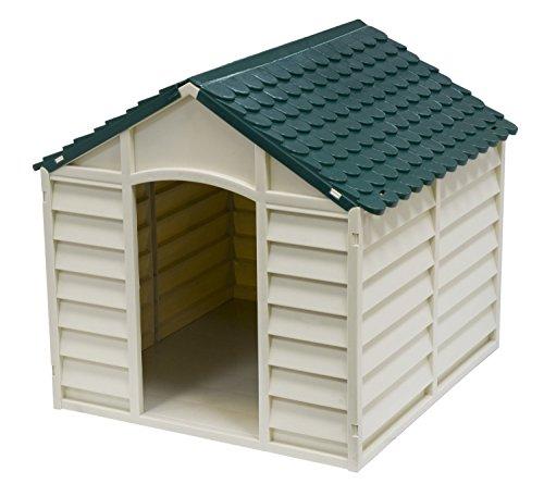 AVANTI TRENDSTORE Cuccia per cani in Pvc per esterno colore grigio chiaro con tetto verde