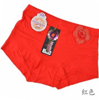 Bambus Faser Damen Unterwäsche Unterwäsche slip Taille, Gules Greatlpk gules
