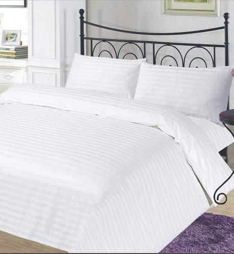 ZWARE Axt Bettbezug Fadenzahl 400weiß 100% ägyptische Baumwolle 400TC Größe Doppel und Paar Kissenbezüge -