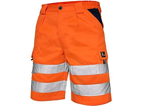 CXS Norwich Pantaloncini da Lavoro, visibilmente Alti, Pantaloni Corti da Lavoro, Colore Segnale, Pantalone ad Alta visibilità con Strisce Riflettenti, EN ISO 20471, 280 g/m2 (50, Arancione)