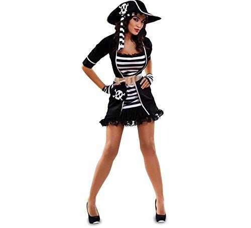 Zzcostumes Schwarz-Weiß-Piraten-Kostüm für Eine Frau