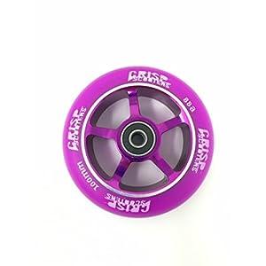 Crisp Scooters, ruota per monopattino, 5raggi, 120mm,vari colori, Purple on Purple, 100 mm