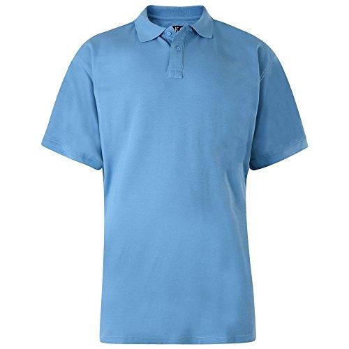 KAM Baumwoll-polyester einfarbiges polohemd without tasche (502) in den größen 2XL to 8XL, 5 farben Pulver-Blau