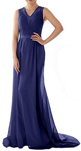 MACloth - Robe - Trapèze - Sans Manche - Femme Bleu Marine