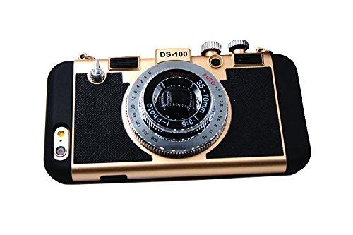 iPhone SE Housse et étuis Case,3D Style de Camera Phone Housse pour Apple iphone5/5s,La modélisation de la caméra stéréo couvrir les cas pour iPhone SE/iphone 5s/iphone 5 - Camouflage Green Or