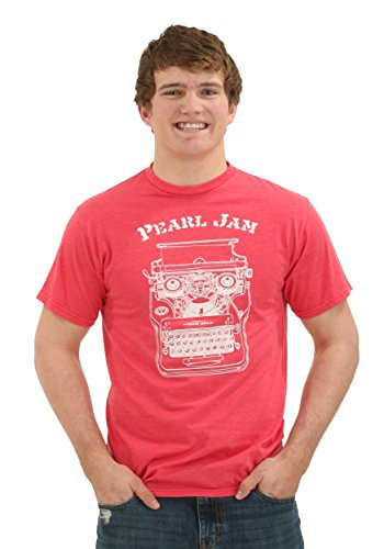 Pearl Jam Pittsburgh Typewriter T-Shirt Red