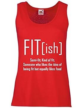 Camisetas sin Mangas para Mujer Fit - Ish Definición. Ejercicio - Entrenamiento - Gimnasio, Idea de Regalo sarcástico...