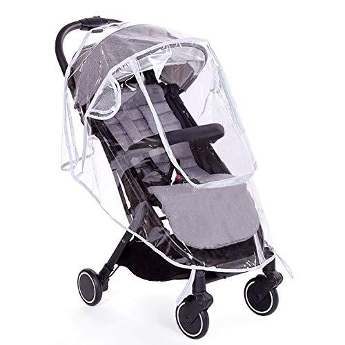 Protector de lluvia universal para silla de paseo, Cubierta impermeable, buena circulación del aire, ventana de contacto, fácil montaje en cualquier cochecito