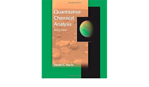 Quantitative Chemical Analysis AmazonDe Daniel C Harris