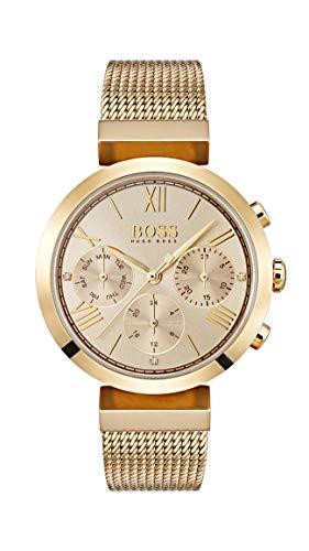 Hugo BOSS Damen Analog Quarz Uhr mit Edelstahl Armband 1502425
