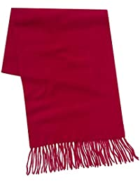 Savile Row Men's Scarlet Red Cashmere Scarf