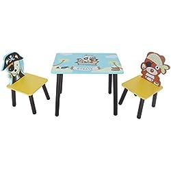 Kiddi Style les enfants Bois Ensemble table et chaises motif pirate