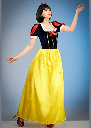 Magic Box Int. Womens Long Snow White Style Kostüm Medium (UK - Womens Snow White Kostüm