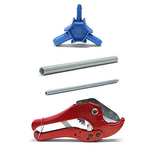 Pipetec Montage-Werkzeug-Set 16x2 mm Rohrschere Kalibrierer Biegefeder Verbundrohr