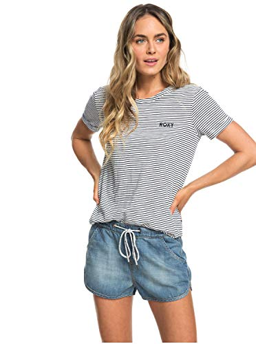 Roxy Music Never Stop - Denim Beach Shorts for Women - Frauen
